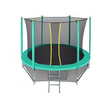 Батут уличный на пружинном каркасе - HASTTINGS CLASSIC GREEN 10FT, защитная сетка, лестница, фото 1